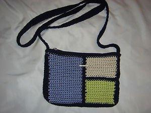 THE SAK Elliott Lucca Color Block Crochet Knit Shoulder Bag Handbag Crossbody