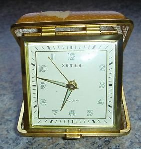 Semca Alarm Clock Travel Glows Wind-up Old Antique Vintage Tested Works GERMANY