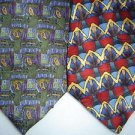 LOT of 2 JERRY GARCIA Neck Ties Blue Green Red Yellow Silk Classic ABSTRACT USA