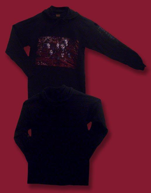 MINISTRY - VINTAGE 1993 BAND PHOTO HOODIE LONG SLEEVE T-SHIRT JERSEY *NEW* /  L