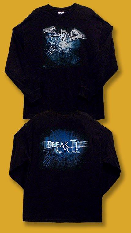 "STAIND - 2001 ""BREAK THE CYCLE"" LONG SLEEVE JERSEY T-SHIRT *NEW* / SZ. XL"