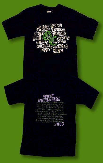 GOOD CHARLOTTE - 2003 CONCERT TOUR T-SHIRT / SZ. SMALL