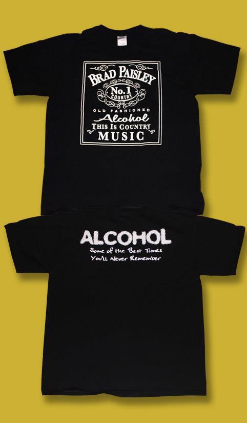 "BRAD PAISLEY ""OLD FASHIONED ALCOHOL"" 2007/2008 CONCERT TOUR T-SHIRT *NEW* / SZ S"