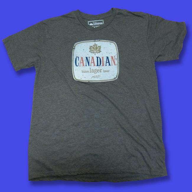 MOLSON CANADIAN - DISTRESSED LOGO BEER T-SHIRT *NEW* / SZ. L