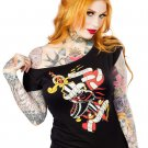 SOURPUSS - DERBY TILL DEATH, ROLLER DERBY SLOUCH T-SHIRT *NEW* / SZ. MEDIUM