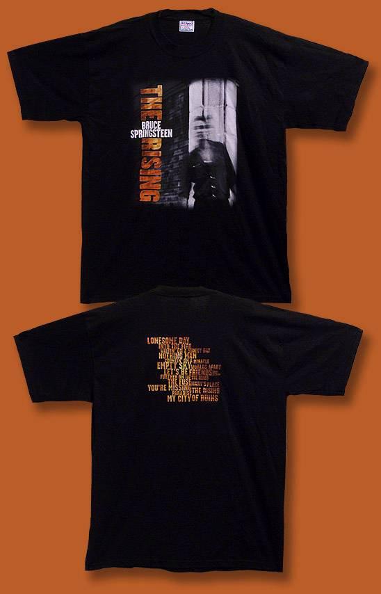 BRUCE SPRINGSTEEN - 2002 THE RISING CONCERT TOUR T-SHIRT / SIZE XXL, 2XL