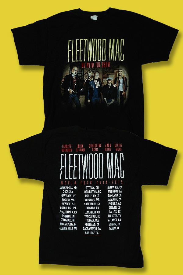 FLEETWOOD MAC - ON WITH THE SHOW 2014-2015 WORLD CONCERT TOUR T-SHIRT *NEW* / L