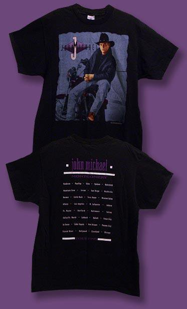 JOHN MICHAEL MONTGOMERY - 1995 CONCERT TOUR T-SHIRT / SZ. XL