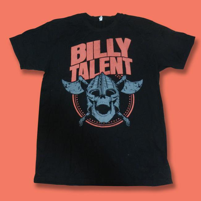 BILLY TALENT - SKULL AND AXES, GENERIC BAND CONCERT TOUR  T-SHIRT / SZ. L