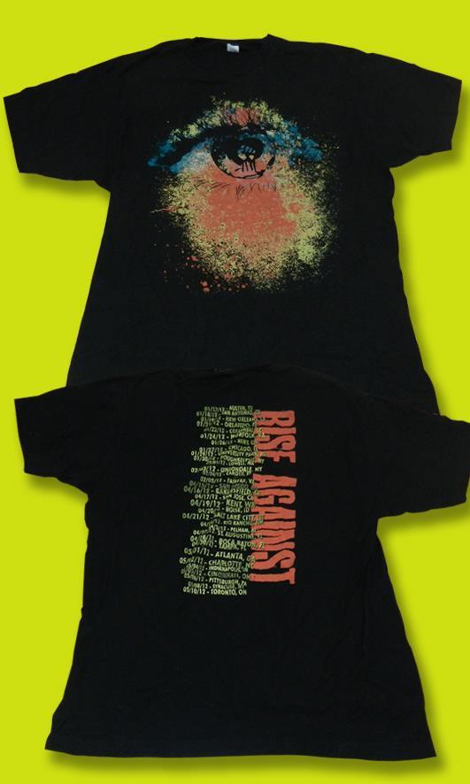 RISE AGAINST - 2012 CONCERT TOUR T-SHRT / SZ. L