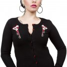 SOURPUSS - ROLLER DERBY DARLING, ROLLER SKATE CARDIGAN SWEATER *NEW* / SZ. Small