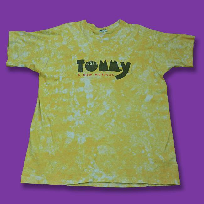 """THE WHO - VINTAGE 1993 """"TOMMY"""" MUSICAL T-SHIRT / SZ. XL"""