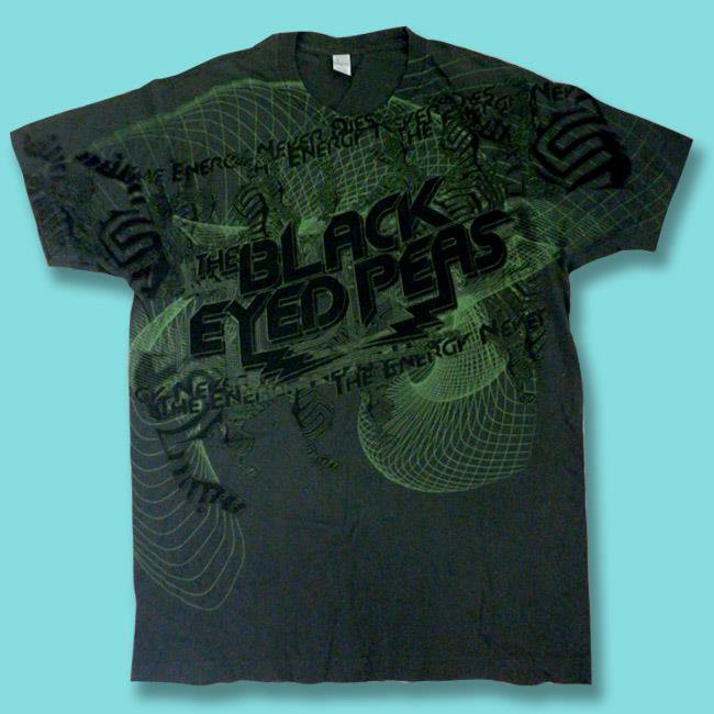 "THE BLACK EYED PEAS - 2009 ""THE ENERGY NEVER DIES"" CONCERT TOUR T-SHIRT / SZ. M"