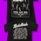 "NICKELBACK - 2012 ""HERE & NOW"" CONCERT TOUR TSHIRT *NEW* / SZ. M"