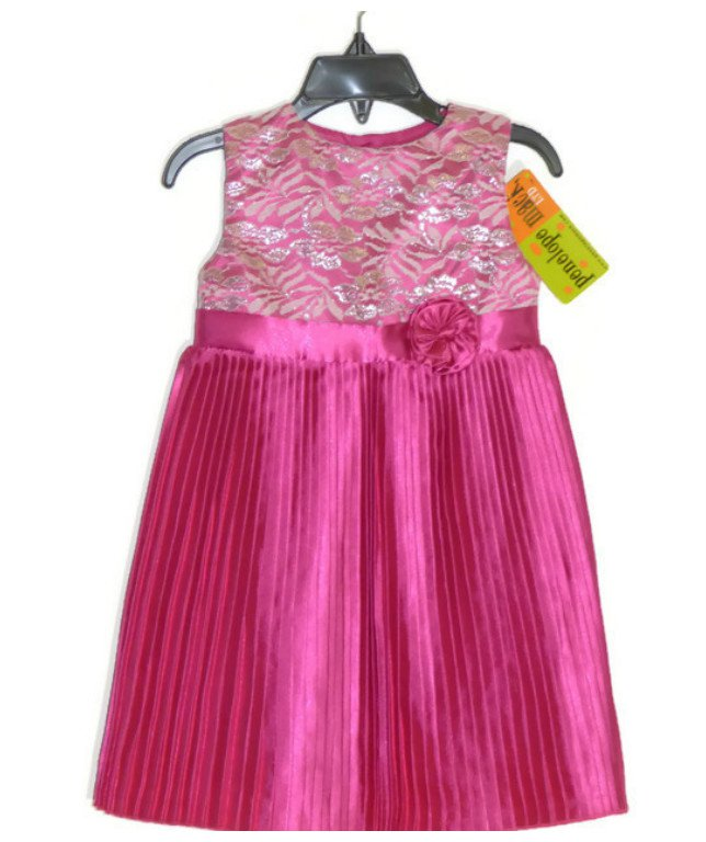 NEW Penelope Mack Toddler Pink Girl Pleat Dress - 4T