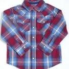 NEW Arizona Regal Red/Blue Striped Boys' Long Sleeve Shirt, 3T