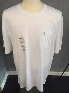 Mens Size XXL IZOD White Pocket Short Sleeve T-Shirt NWOT