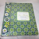 Vera Bradley GREEN 3 Ring Binder New NIP School Office RARE Green
