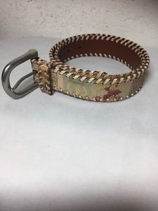 "Fossil belt womens S rodeo queen country western printed leather 1.25""wide"