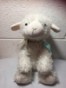 Hallmark LITTLE BLESSINGS Lamb Lovey Cross Curly Plush Stuffed Animal NEW