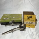 VINTAGE Oster Metal Hand Hair Clipper Razor Cut Model 105 in Original Box