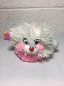 1986 Mattel Mini Popples Puffling Popple Plush Toy White Vintage 80's Toy