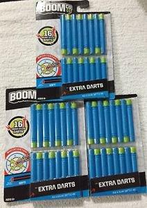 3 packs Boom Co Extra Darts  16 per pack 48 total  darts New