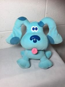Blue Clues Plush Blue Nick Jr Dog Puppy Eden Nickelodeon Stuffed Animal Toy
