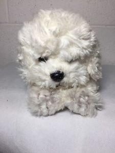 "Animal Alley BICHON FRISE Plush White Puppy Dog Stuffed Shaggy Toy Lovey 10"""