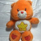 Care Bears Plush Laugh A Lot Bear Orange Yellow Star Tummy 2003 14 Inch