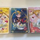 Lot of 3 VHS Sailor Moon The Movie R S Super S Black Dream Hole Hearts Ice Rose
