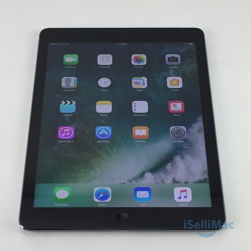 Apple Verizon IPad Air WiFi + Cellular 64GB Space Gray MF010LL/A + B Grade