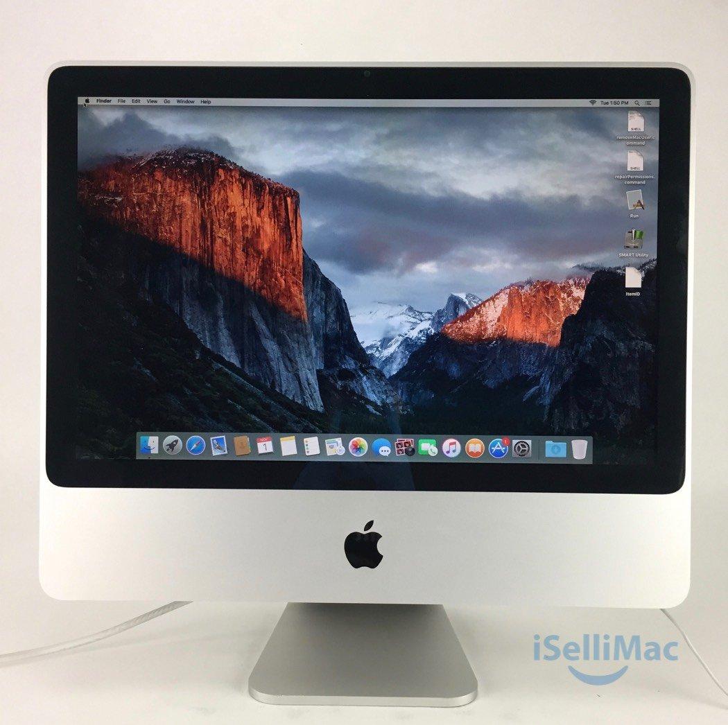 """Apple 2007 Aluminum 20"""" IMac 2GHz C2D 2TB 4GB MA876LL + B Grade + Warranty!"""
