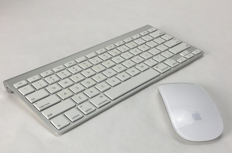 Apple 1st Gen Wireless Aluminum Keyboard (A1314) + Magic Mouse Combo (A1296)