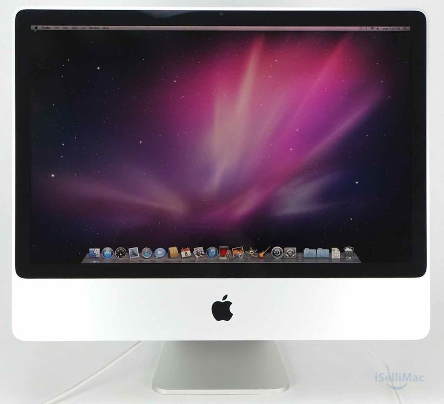 "Apple Aluminum 24"" IMac 2.8GHz C2D 320GB 2GB MB325LL/A + B Grade + Warranty!"
