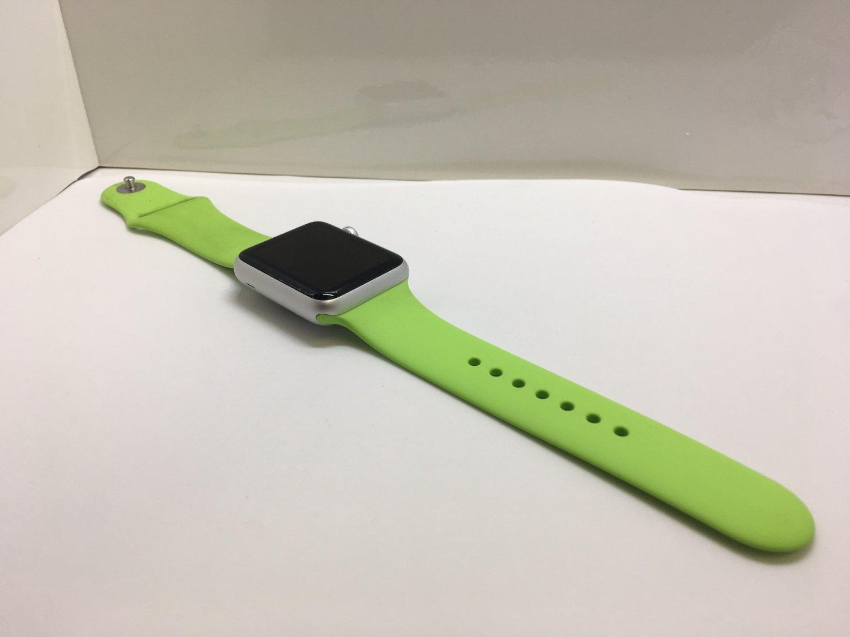 Apple Watch Sport 1st Gen. Silver + Green Sport Band MJ3P2LL/A + Warranty!
