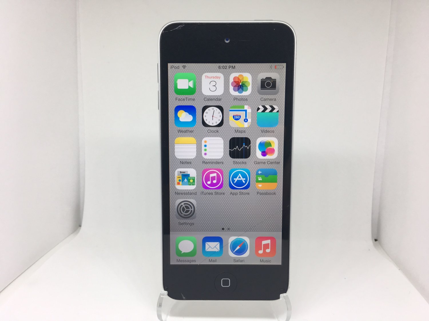 Apple IPod Touch 5th Gen 16GB Silver ME643LL/A + C Grade Display Issue Warranty!