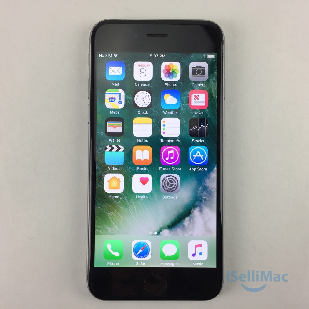 Apple AT&T IPhone 6 64GB Space Gray MG4W2LL/A + C Grade + Accessories + Warranty