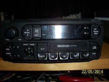 2001 DODGE DURANGO AM/FM CASSETTE NO CD CONTROLS PART NUMBER 56038931AB 63857