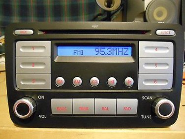VOLKSWAGEN RABBIT A/V Equipment receiver (radio), AM-FM-CD, ID 1K0035161C 06 0