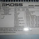Koss MS467 Car Cassette Stereo