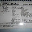 Koss MS467 Car Cassette Stereo