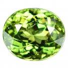 2.45 Ct Superb Luster Green Russian Demantoid Garnet Loose Gemstone With GLC Certify