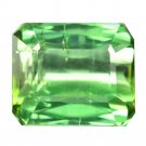 4.23 Ct. Octagon Cut Greenish Blue Natural Tourmaline Loose Gemstone With GLC Certify