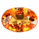 3.65 Ct Elegant Natural Top Orange Mandarin Garnet Loose Gemstone With GLC Certify