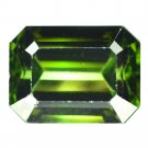 6.94 Ct. Natural Dark Green Tourmaline Octagon Loose Gemstone With GLC Certify