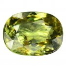 3.22 Ct. Lustrous Best Green Demantoid Garnet Loose Gemstone With GLC Certify