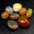 20.39 Ct. Top Play Of Color Natural Opal Cabochon Lot Loose Gemstone With GLC Certify