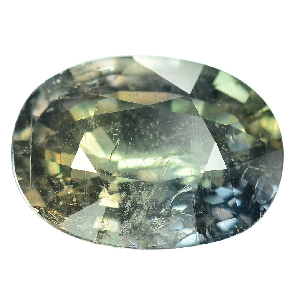 5 Ct. Museum Gem Unheated Green Sapphire Loose Gemstone With GLC Certify