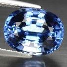 5.09 Ct. Vvs Natural Intense Royal Blue Tanzanite Loose Gemstone With GLC Certify